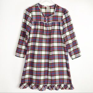 LANDS' END Plaid Flannel Nightgown Size 12